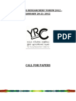 YRF 2012 Call for Papers