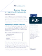 The Role of Problem Solving in the Mathematics Classroom