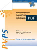 IEA_International Guideline for the Certification of PV Systems_2002