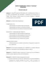 Proyecto Comisión provincial de coordinación fiscal
