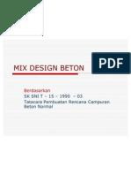 Mix Design Sni