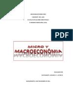 MICRO Y MACROECONÓMIA
