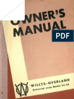 Cj3a Owners Manual
