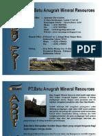 Company Profil PT. Batu Anugrah Mineral Resources