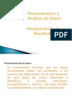 procesamiento análisis de datos  interpretación de resultados