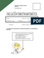2da Evaluacion Sumativa Funcion y Ecuacion Cuadratica