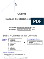 3-SI1-_ODBMS_(Nocoes_SGBDOO-RO)
