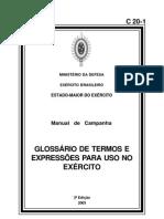 Glossário de Termos e Expressões para uso no exército