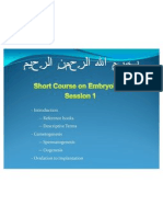 Embryology Course - Session 1