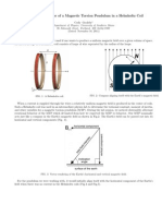 Behavior of a Torsion Pendulum in a Helmholtz Coil