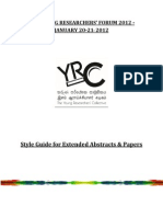 YRF2012 Style Guide
