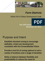 Overview of the CIty of Dallas Form Based Code