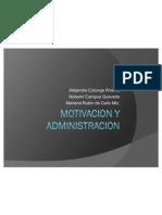 MOTIVACION Y ADMINISTRACION