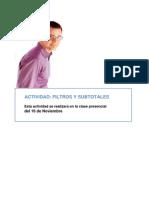 FILTROS Y SUBTOTALES