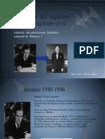 Transición  del  régimen militar al régimen civil