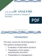 Evaluating Alternatives Strategies Reporting