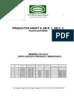 Caso Calculo de Corto Cicuito Paso a Paso en Sist Industrial 2 - Memoria