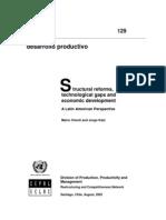 Katz - Cimoli 2002 -Structural Reform, Tech Gaps and Ec Devpt
