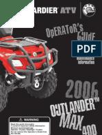 2006 Can-Am Outlander Max 400 H.O. XT Manual