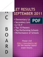 LET Results September 2011
