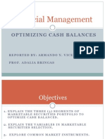 Optimizing Cash Balances