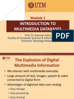 Module 1 - Introduction to Multimedia Databases