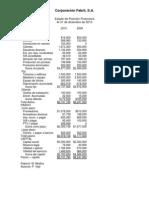 Estados financieros Corporacion Fabril S.A. COFASA
