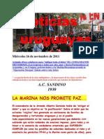 Noticias uruguayas miércoles 16 de noviembre de 2011