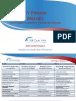 CV Phrases glossary