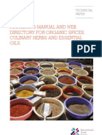 Marketing Manual for Organic Spices Culinary Herbs Essential Oils