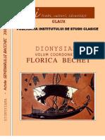 1556_Florica Bechet, Dionysiaka a Institutului de Studii Clasice Glaux
