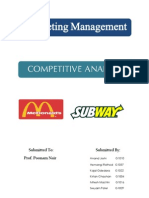 Marketing Management McDonald vs Subway