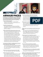 Dries Deriemaeker Interview Arnaud Pages