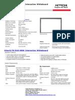 Hitachi FX-DUO-88W Interactive Whiteboard