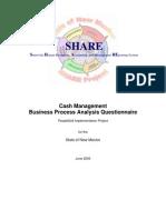 Cash Management BPA Questionnaire 8.8 NM