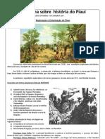 Apostilha sobre  história do Piauí