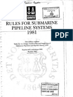 DNV Rules for Submarine Pipeline Systems (1981)