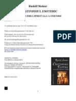 Rudolf Steiner Crestinismul Ezoteric Si Conducrea Spiritual A a Lumii