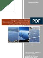 Gujarat Solar Tariff Discussion Paper