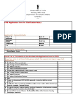 FIPB Application Form for Clarification-Query