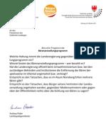 LtAnfrage&Antwort Bärenansiedlungsprogramm 1111