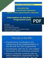 Cross-Border Programme, Seminar Shkodra, MEI