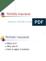 Investment Theory Portfolio Insurance