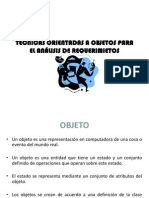 TECNICAS ORIENTADAS A OBJETOS PARA EL ANÁLISIS DE