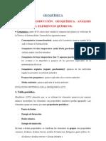 Tema 1 Introducción. Elementos,. Análisis geoquímicos