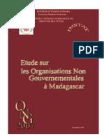 Etude sur les organisations non gouvernementales à Madagascar - 2007 (INSTAT - 2007)
