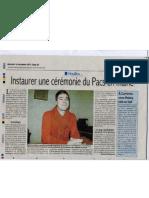 Article Courrier Des Yvelines Nov 2011 Pacs