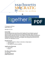 MDP/Together PAC Winter Internship Opportunity