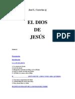 EL DIOS DE JESÚS José L Caravias SJ