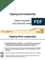 Tipping Point Leadership Neville Koopowitz